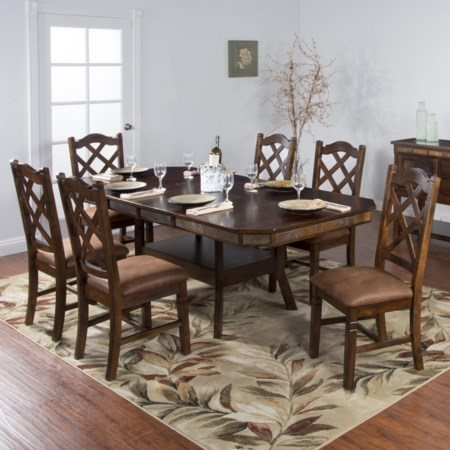 7-Piece Adjustable Height Table Set