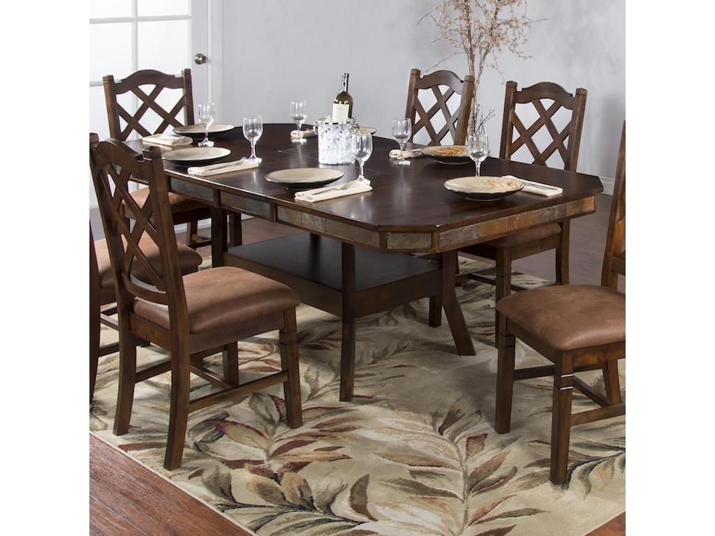 Sunny Designs Santa FeAdj. Height Dining Table w/ 2 Leaves