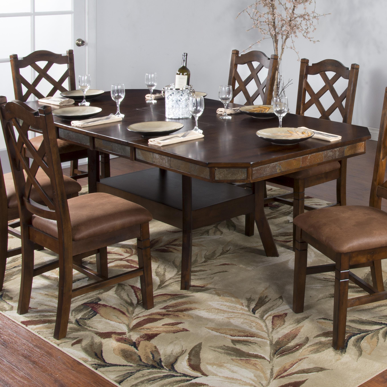 Bon Sunny Designs Santa FeAdj. Height Dining Table W/ 2 Leaves ...