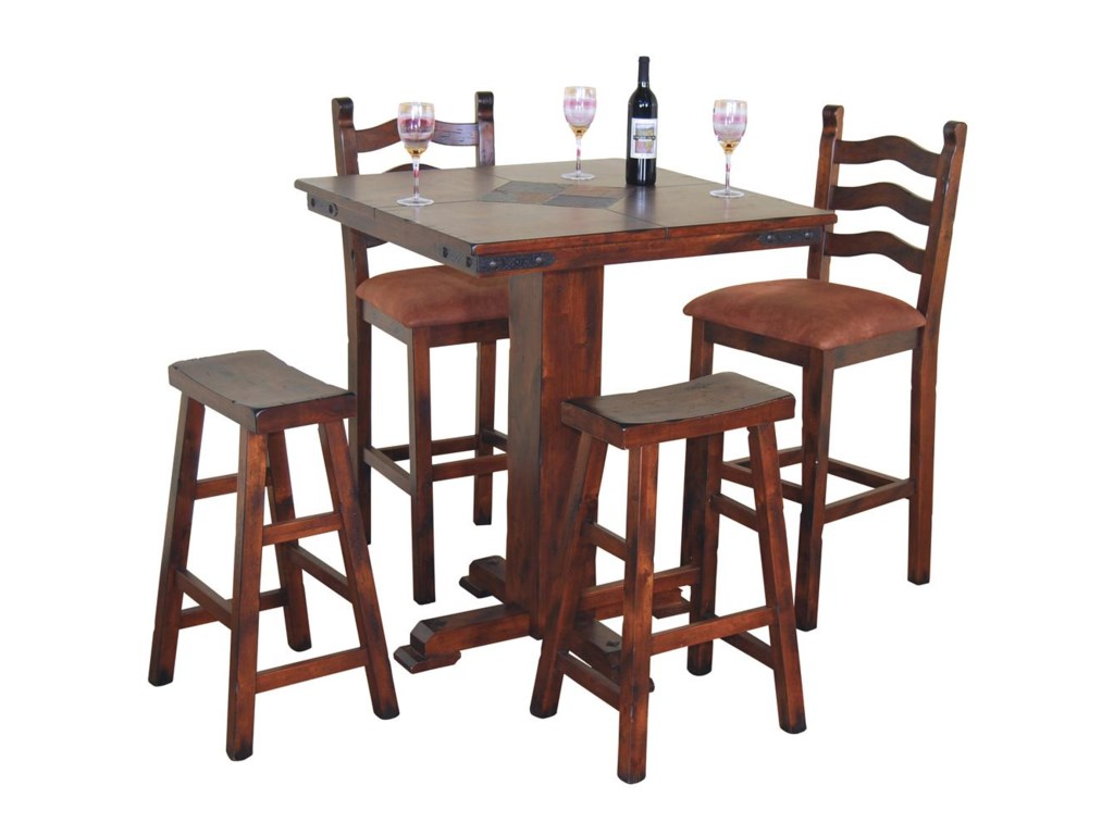 Shown with Ladder Back and Saddle Seat Stools