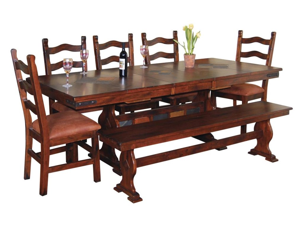 Shown with Matching Dining Chairs and Bench