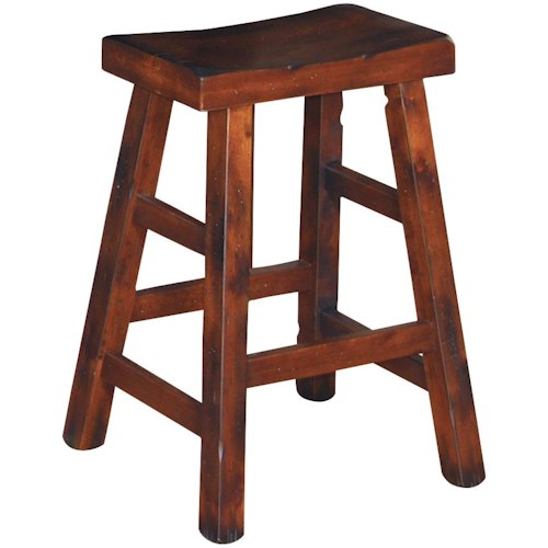Sunny Designs Santa Fe Traditional 24 Inch High Saddle Seat Stool