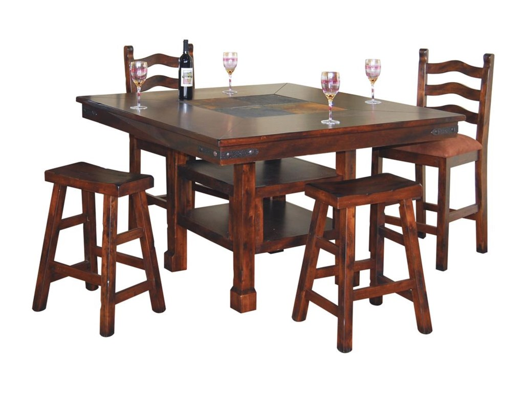 Shown with Matching Ladderback Stool and Table