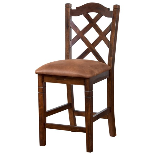 Sunny Designs Santa Fe Double Crossback Stool With