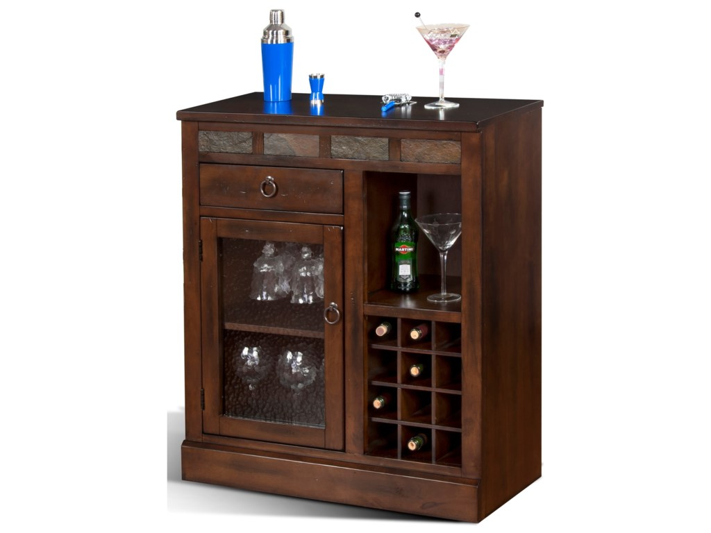 Sunny Designs Santa Fe Mini Bar Cabinet Sadler S Home Furnishings