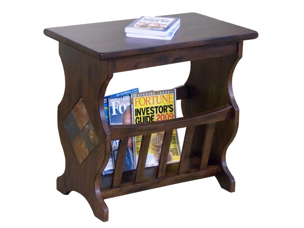 Market Square Morris Home Furnishings Traditional Magazine Rack End Table