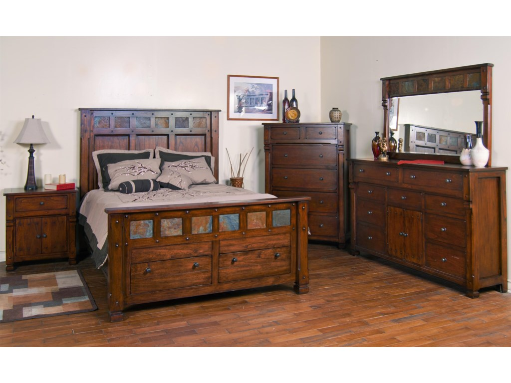 Shown with Dresser and Mirror, Night Stand, and Storage Bed