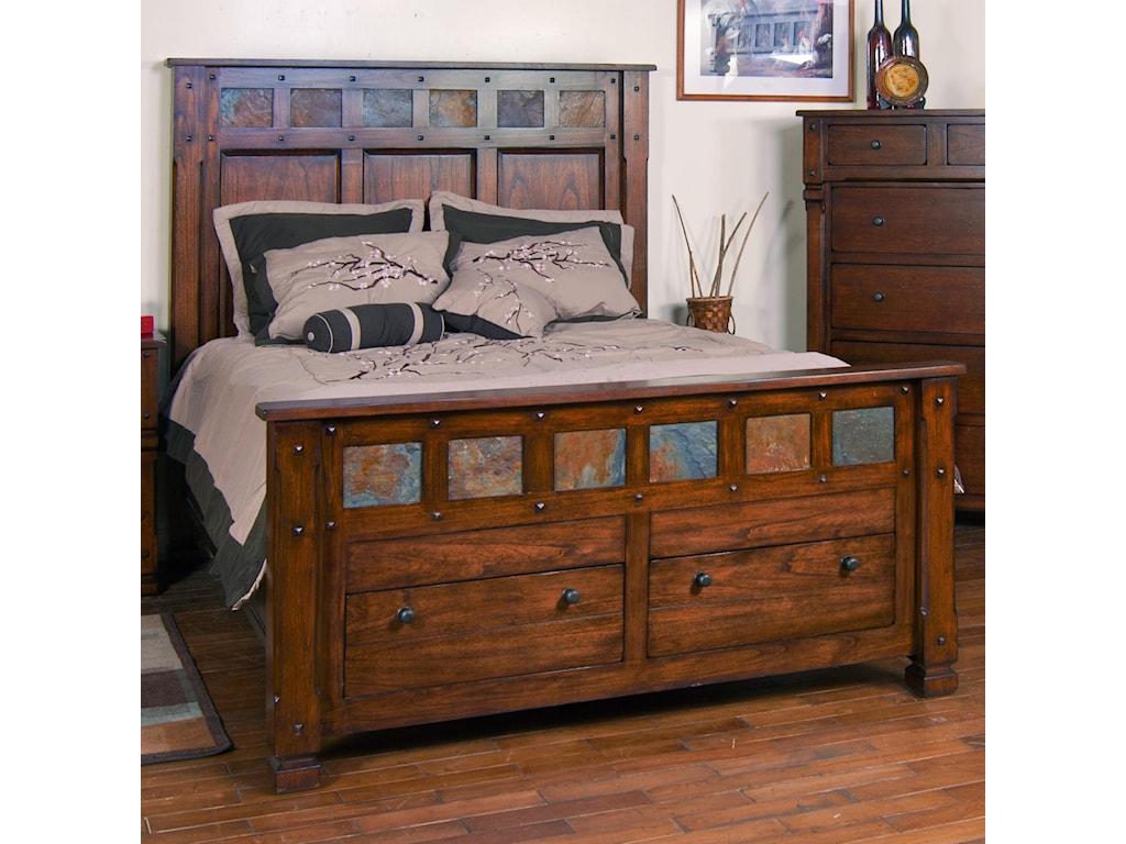 Sunny Designs Santa FeQueen Storage Bed