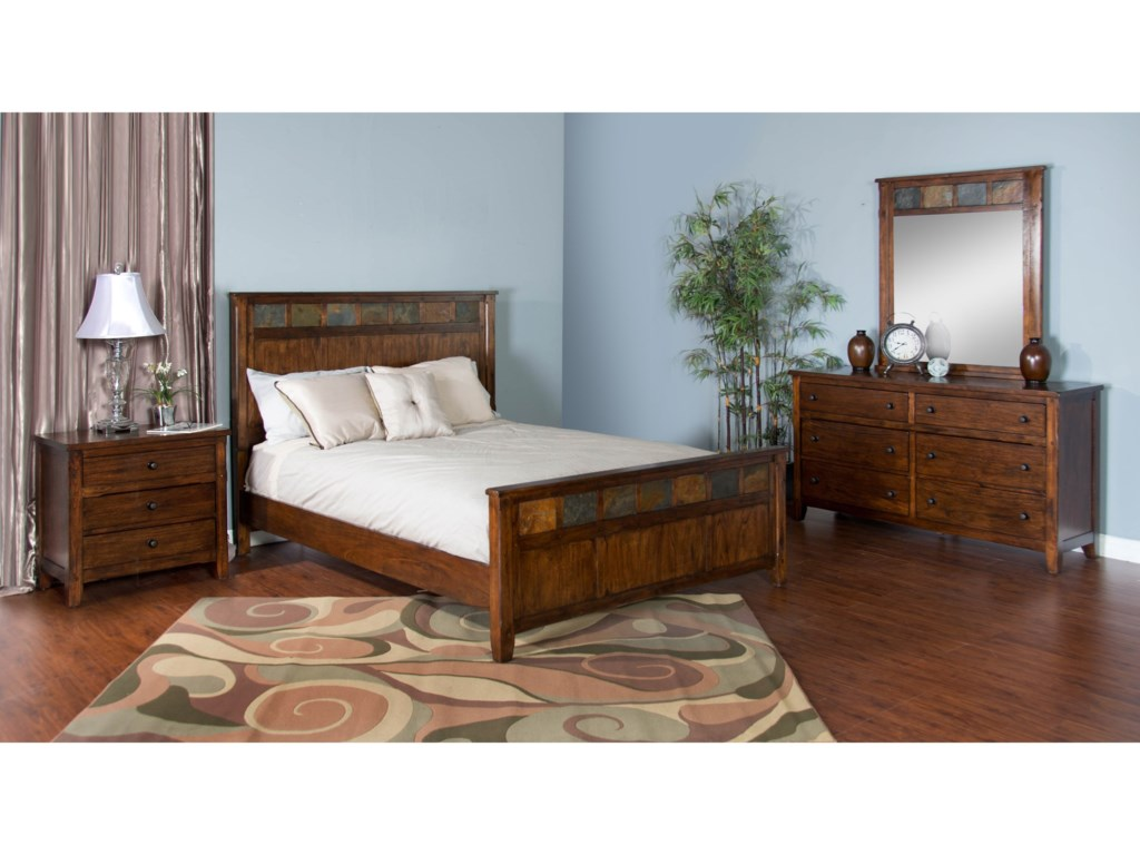 Sunny Designs Santa FeCalifornia King Panel Bed
