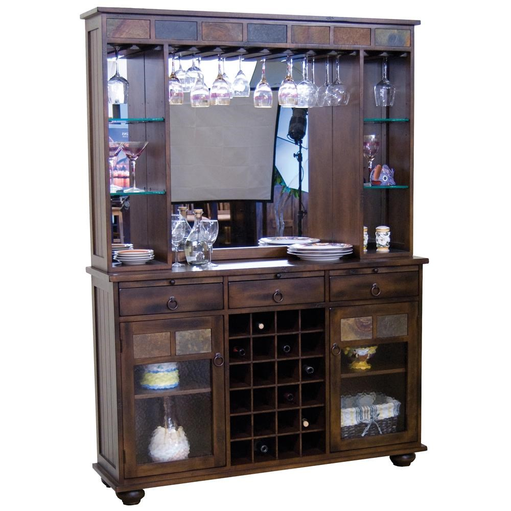 Sunny Designs Santa Fe Traditional Back Bar And Server