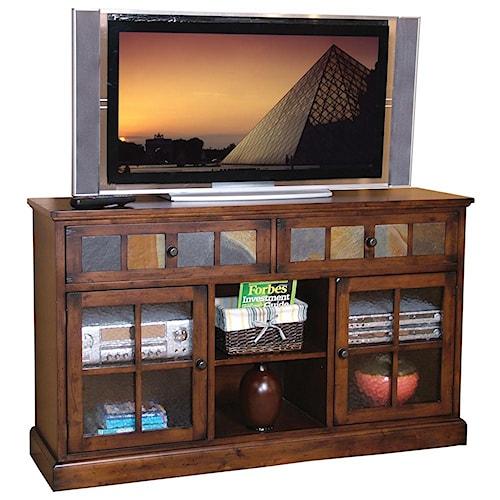 Sunny Designs Santa Fe Traditional 2 Drawer 2 Door TV Console