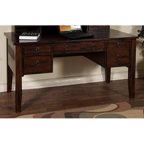 sunny designs santa fe writing desk with keyboard drawer - Sunny Designs Desk