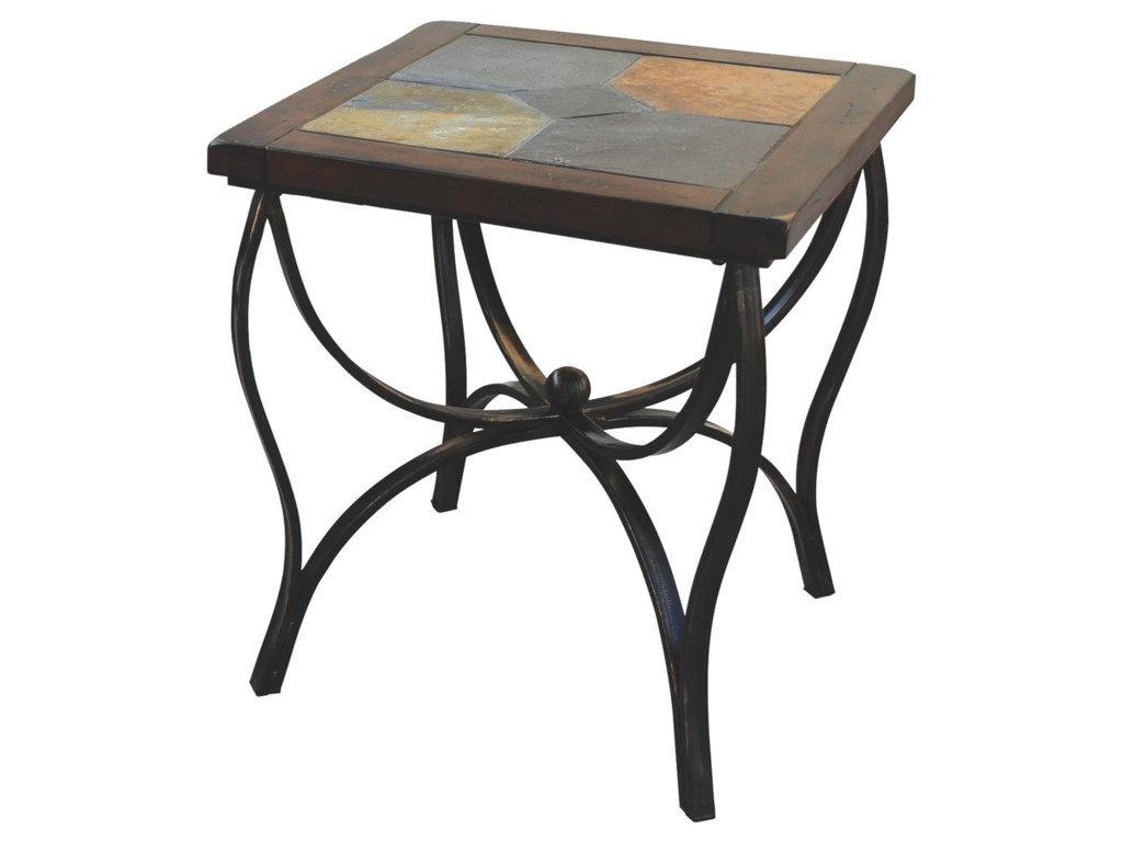 Sunny Designs Santa FeSlate Top End Table