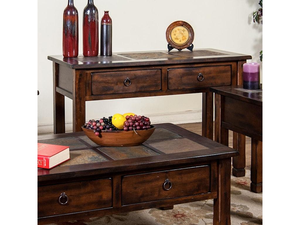 Sunny Designs Santa FeSofa/Console Table w/ Slate Top