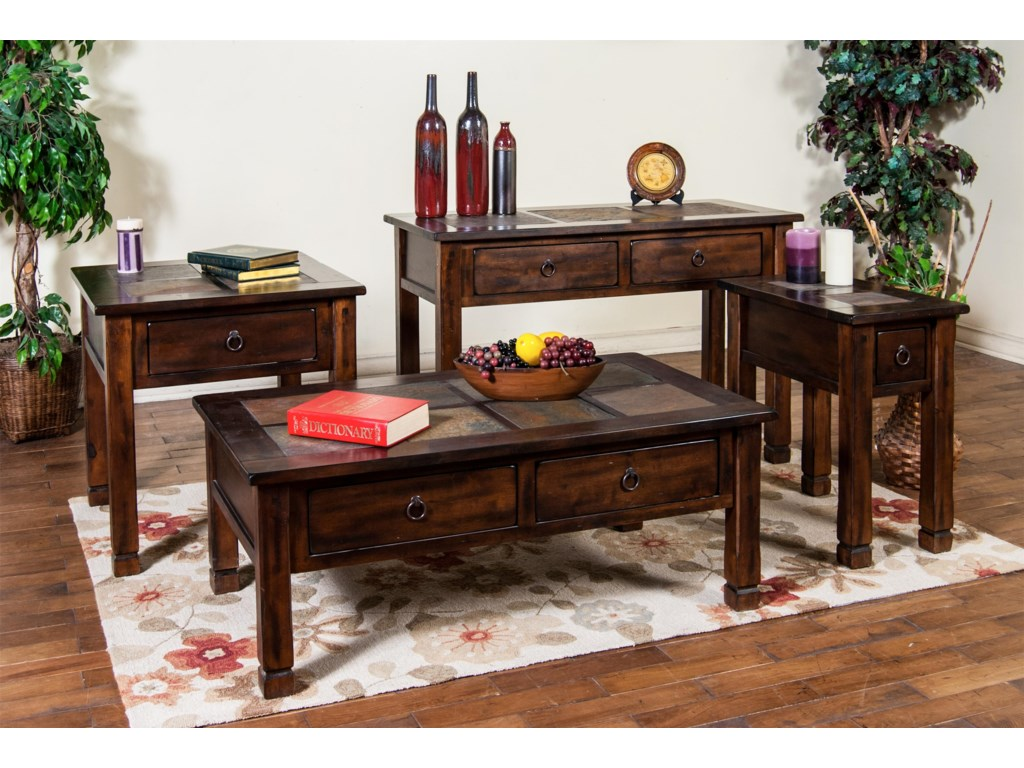 Shown with End Table, Coffee Table, and Chairside Table