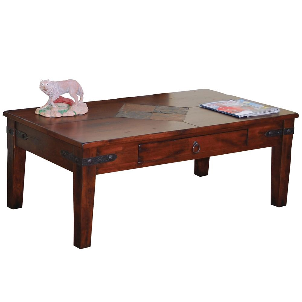 Sunny Designs Santa Fe Traditional 1 Drawer Coffee Table