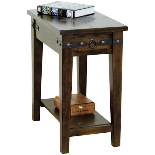 Sunny Designs Santa Fe Traditional 1 Drawer Chairside End Table