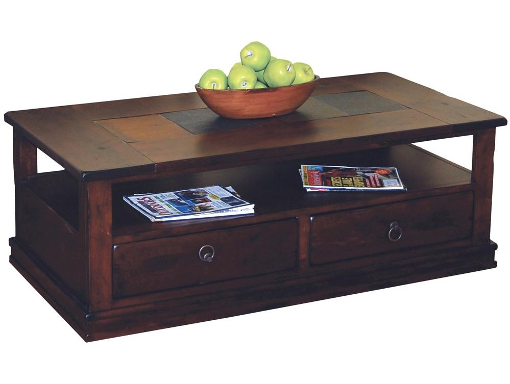 Market Square Morris Home Furnishings Traditional 2 Drawer Coffee Table