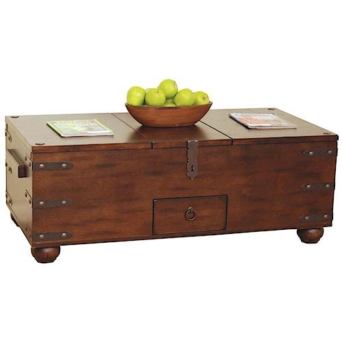 Sunny Designs Santa Fe Traditional Storage Coffee Table Turk Furniture Cocktail Coffee