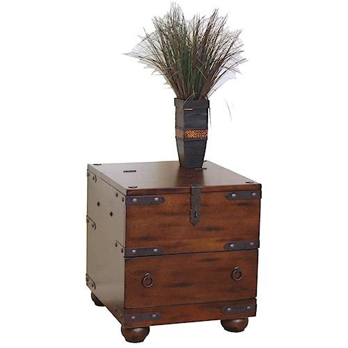 Sunny Designs Santa Fe Traditional 1 Drawer End Table Turk Furniture End Tables Joliet La