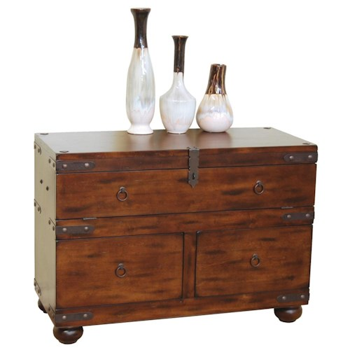 Sunny Designs Santa Fe Traditional 3 Drawer Sofa Table Turk Furniture Sofa Tables Consoles