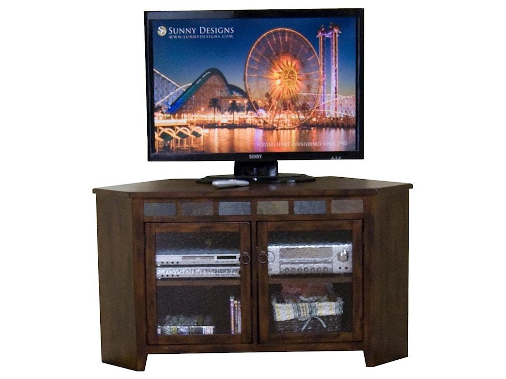 Sunny Designs Santa Fe55 Inch Corner TV Console