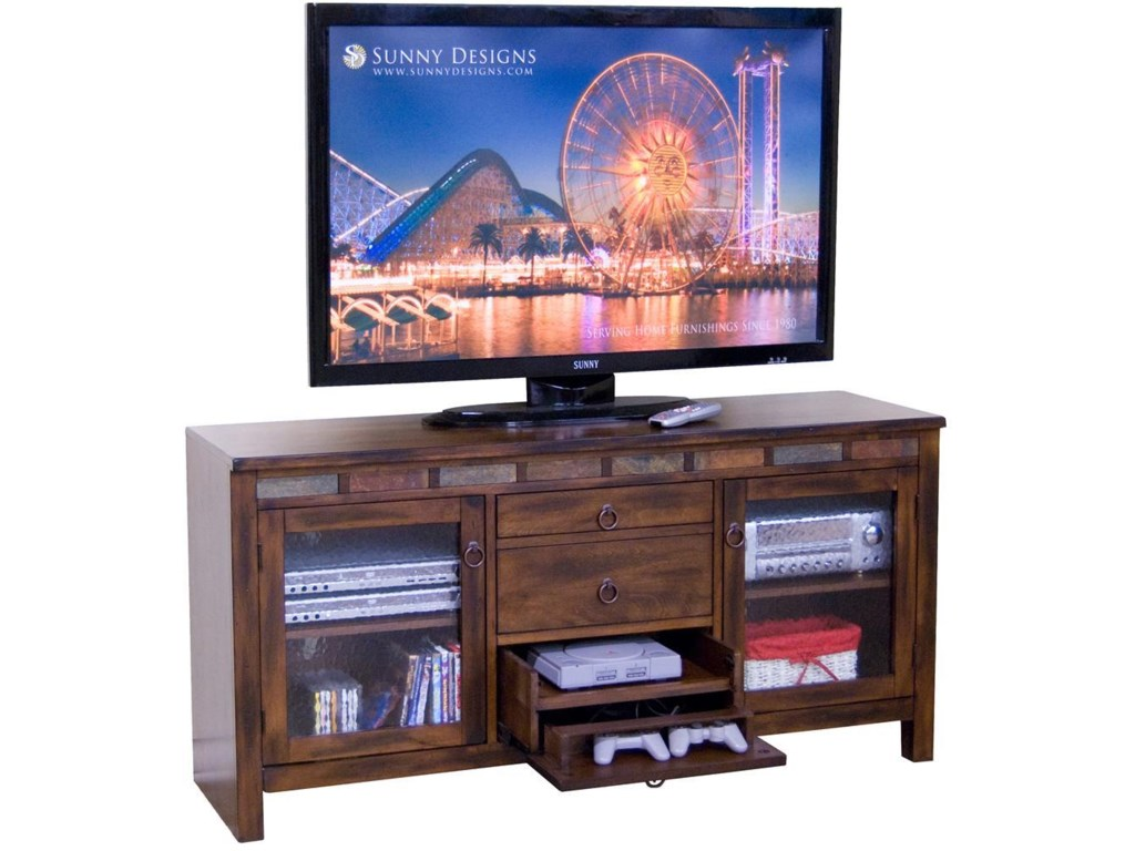Sunny Designs Santa Fe108 Inch Open Display Wall Unit