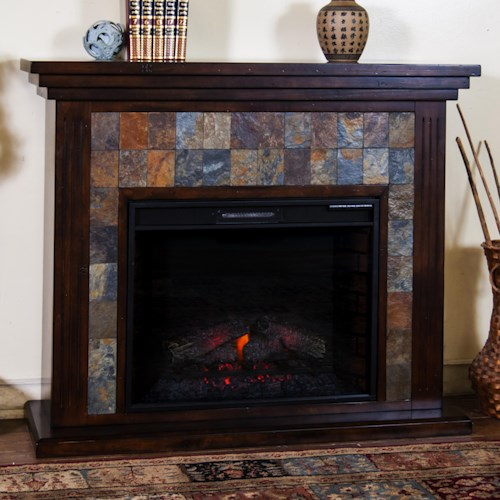 Sunny Designs Santa Fe Fireplace Media Console w/ 28