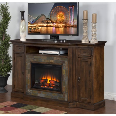"Fireplace TV Console w/  26"" Firebox"