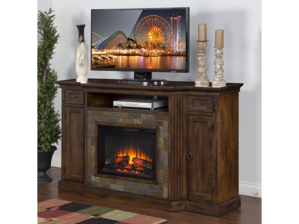 Sunny Designs Santa FeFireplace TV Console w/  26