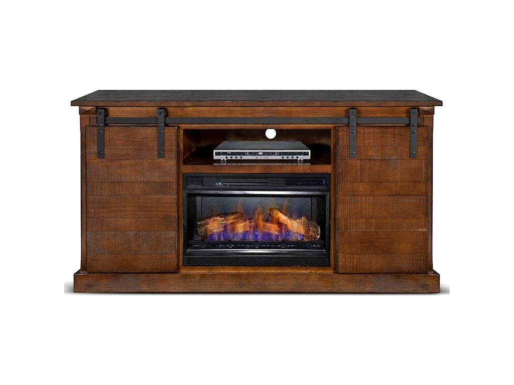 Sunny Designs Santa FeBarn Door TV Console
