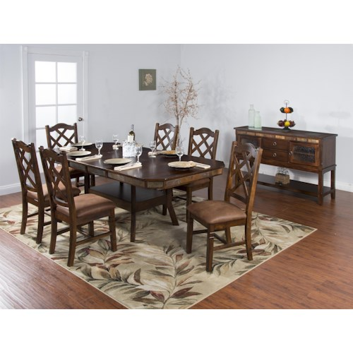 Sunny Designs Santa Fe Casual Dining Room Group