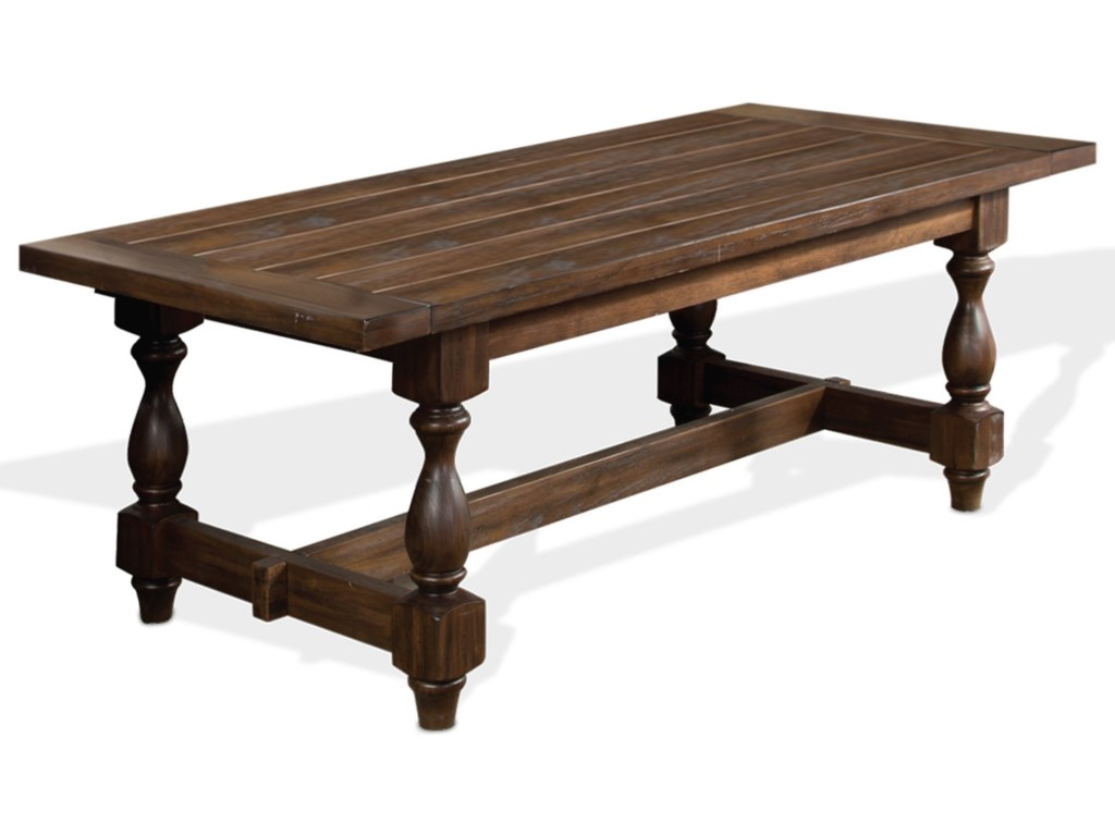 Savannah Transitional Dining Table with 2 Extension Leaves by Sunny Designs  at Suburban Furniture
