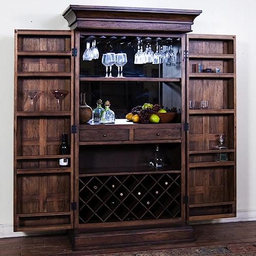 Sunny Designs Savannah Bar Armoire Walker 39 S Furniture Bar Cabinets Spokane Kennewick Tri