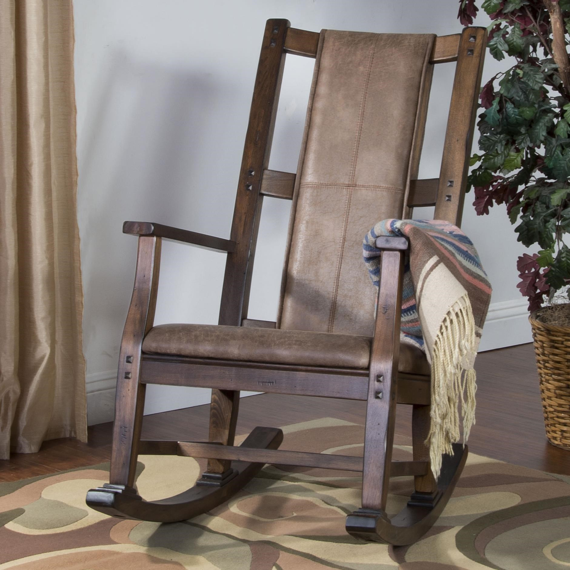 Wood Rocker w/ Cushion Seat & Back