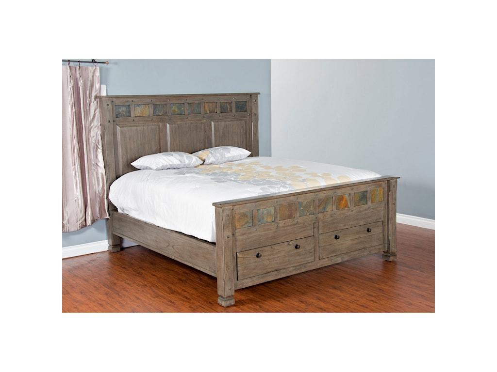Sunny Designs Scottsdale Queen Bed w/ Storage | Conlin\'s ...