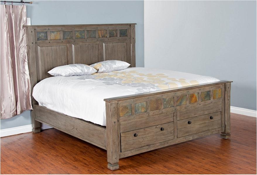 Sunny Designs Scottsdale 2322CG-Q Queen Bed w/ Storage ...