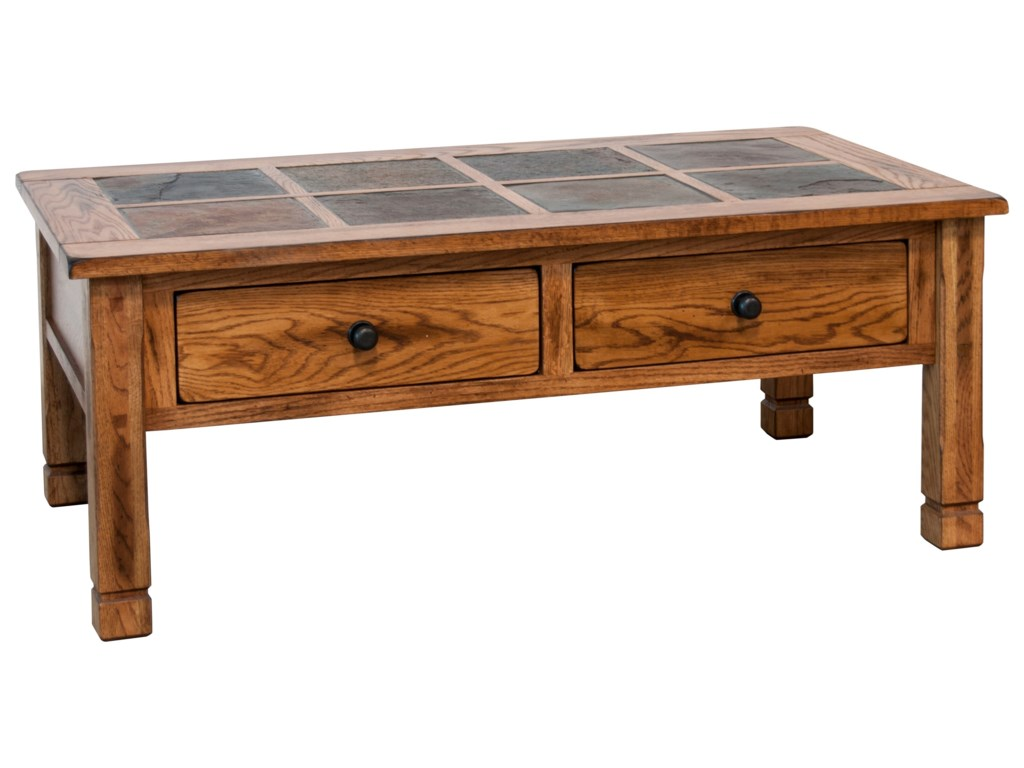Sunny Designs Sedona 2 Rustic Coffee Table With Slate Top Wayside Furniture Cocktail Coffee Tables