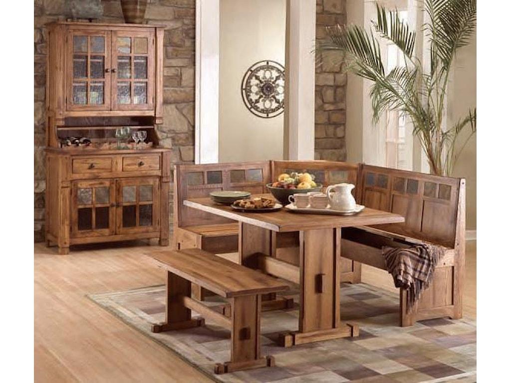 Sunny Designs Sedona4 Piece Breakfast Nook Set