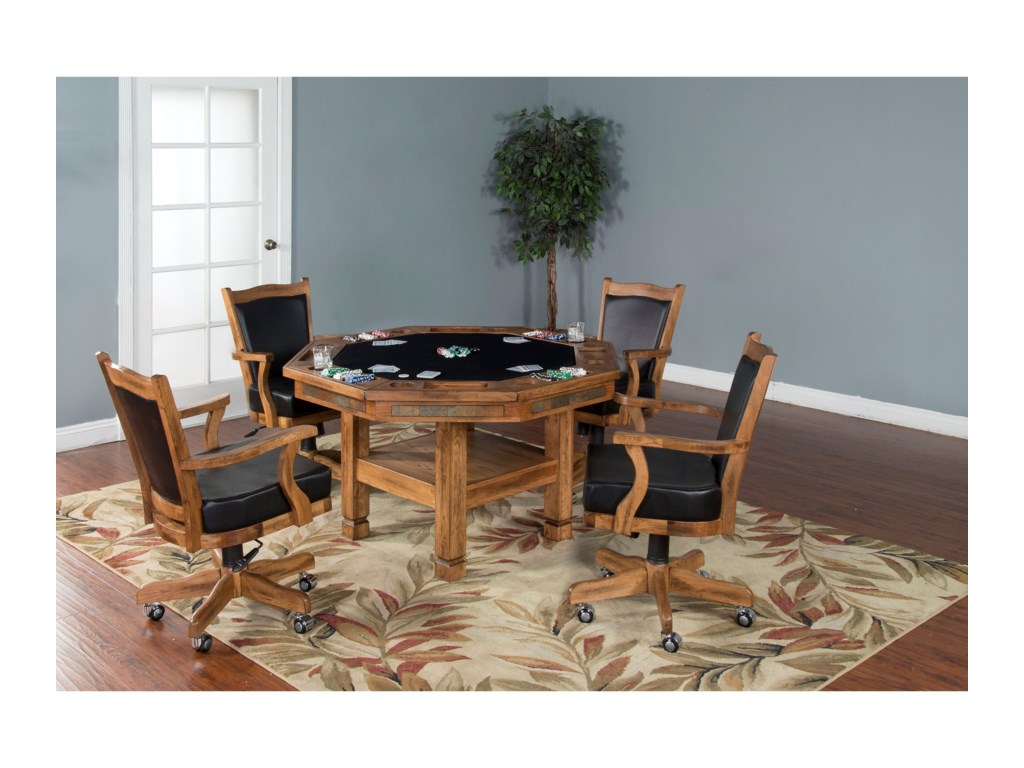 Sunny Designs Sedona3-Piece Game & Dining Table Set