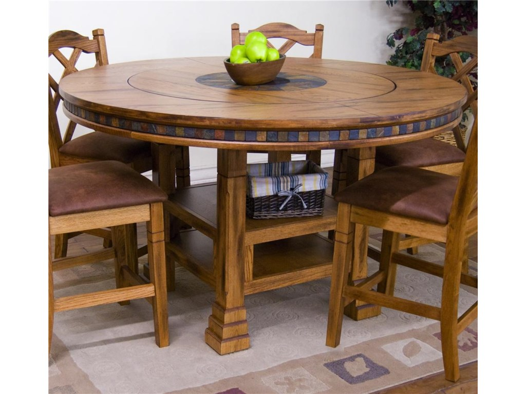 Sunny Designs Sedona Adjule Height Round Table W Lazy