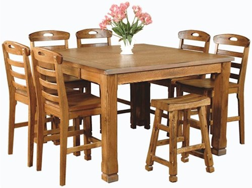 Sunny Designs Sedona Rustic Oak 8 Piece Dining Set