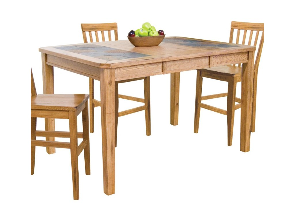 Sunny Designs Sedonacounter Height Extension Table W Slate Top