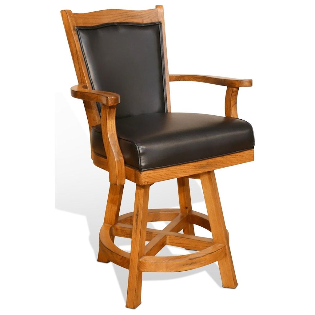 Sunny Designs Sedona 24 Cushionback Barstool W Swivel Suburban