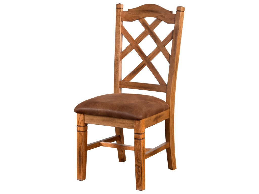 c0495bd04bf Sunny Designs Sedona 1415RO Rustic Double Crossback Chair with ...
