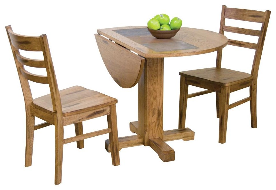 Shown with butterfly leaf table