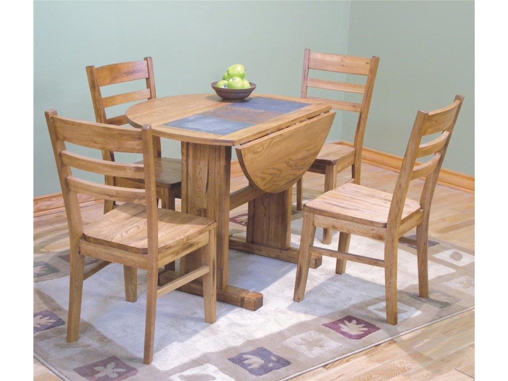 Shown with Double Pedestal Butterfly Table