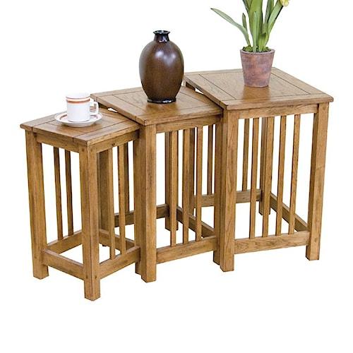 Sunny Designs Sedona 3-Piece Nesting End Table Group
