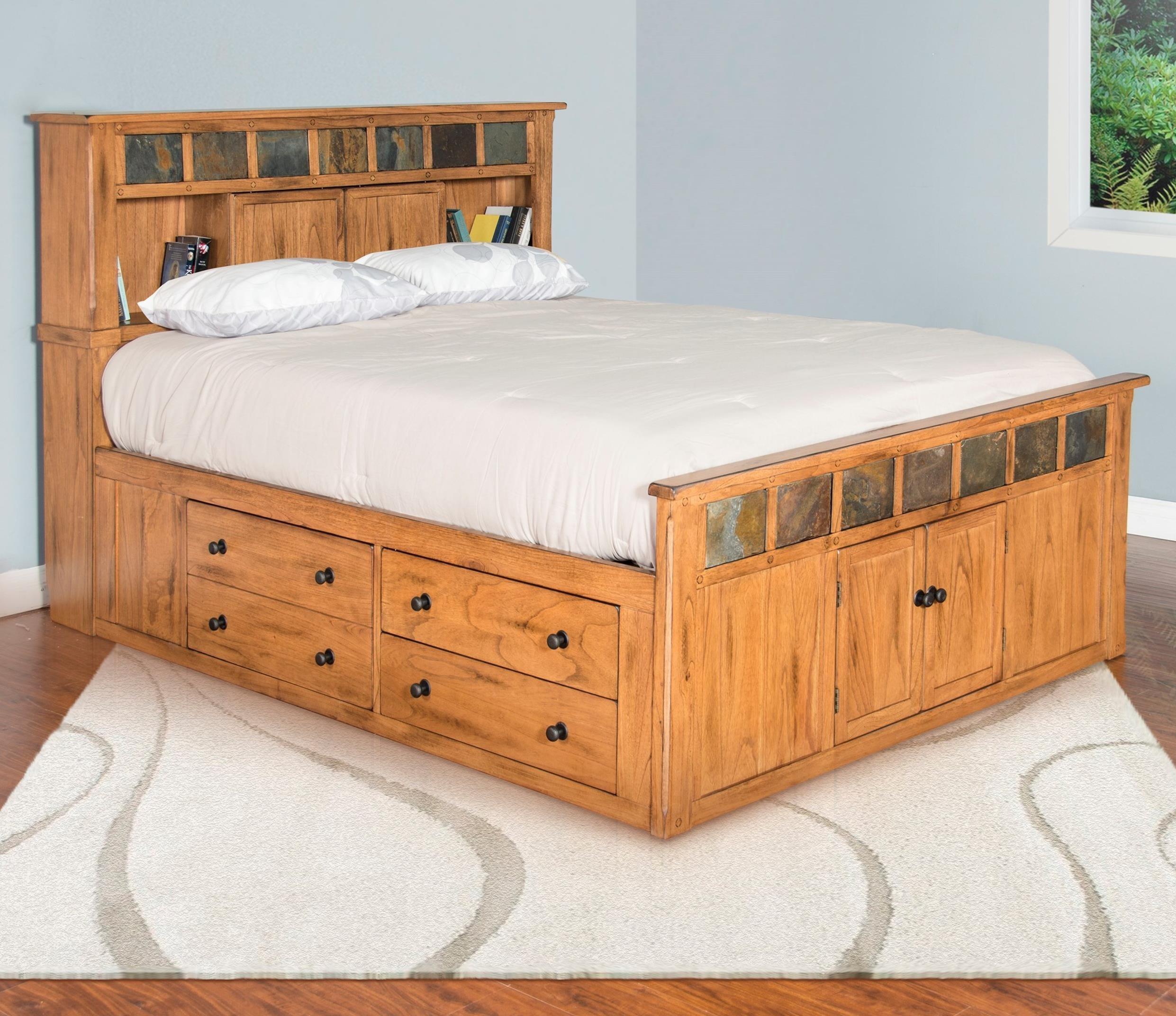 Sunny Designs Sedona King Storage Bed W Slate Sadler S