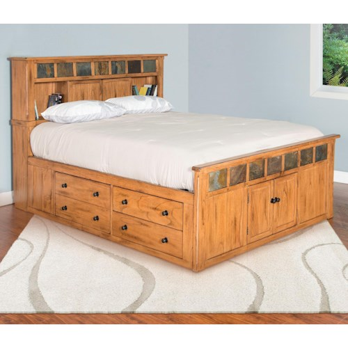 Sunny Designs Sedona Queen Storage Bed W Slate Wayside Furniture Fascinating Sunny Designs Bedroom Furniture
